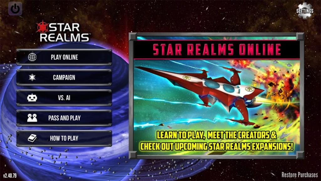 Игра Звездные империи (Star realms)
