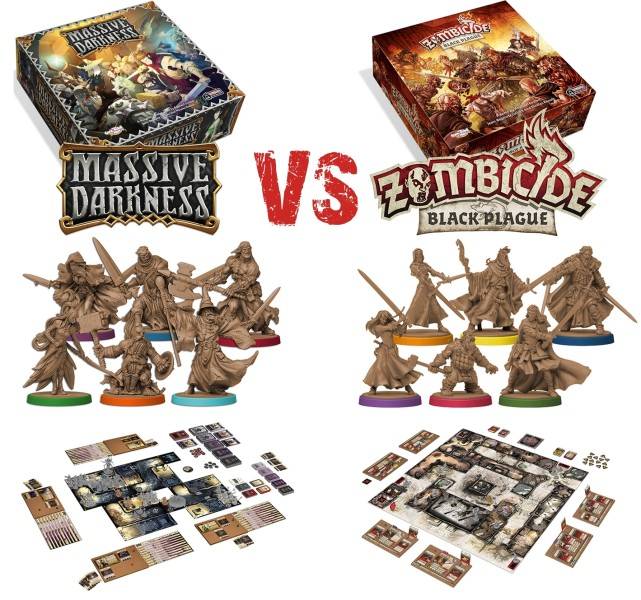Massive Darkness VS Zombicide