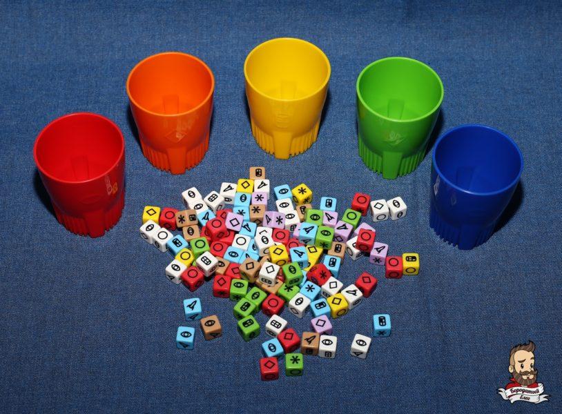 Кубики и стаканчики для их метания