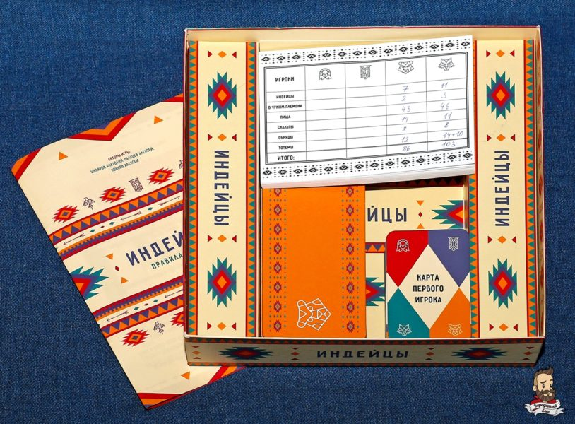 Компоненты игры Индейцы